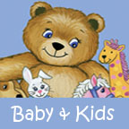 Baby and Kids portfolio button word 144 x 144
