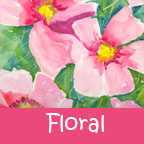 Floral portfolio button word 144 x 144