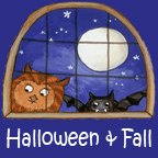 Halloween and Fall portfolio button word 144 x 144